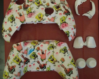 Custom Xbox One Controller Shell Hydro Dipped Sponge Bob Square Pants