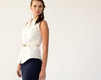 White organic cotton shirting fabric / Eco-friendly textile  / Natural White Hemp & organic cotton shirting / Price per half yard