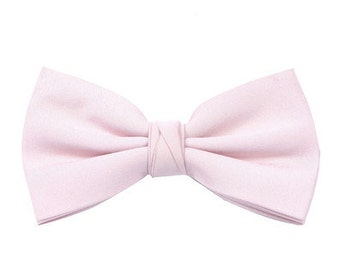 Matchimony Pale Pink Boy's Wedding Bow Tie available in 37 colours