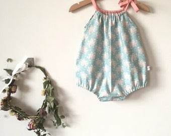 Baby playsuits, Girls playsuits, Baby romper, girls romper using beautiful Tilda Fabric