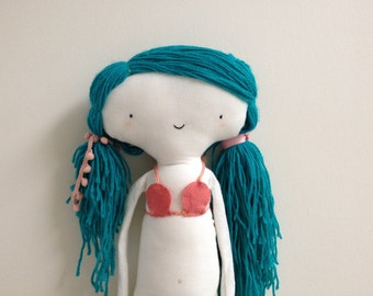 Mermaid softie doll - cute handmade plush toy doll