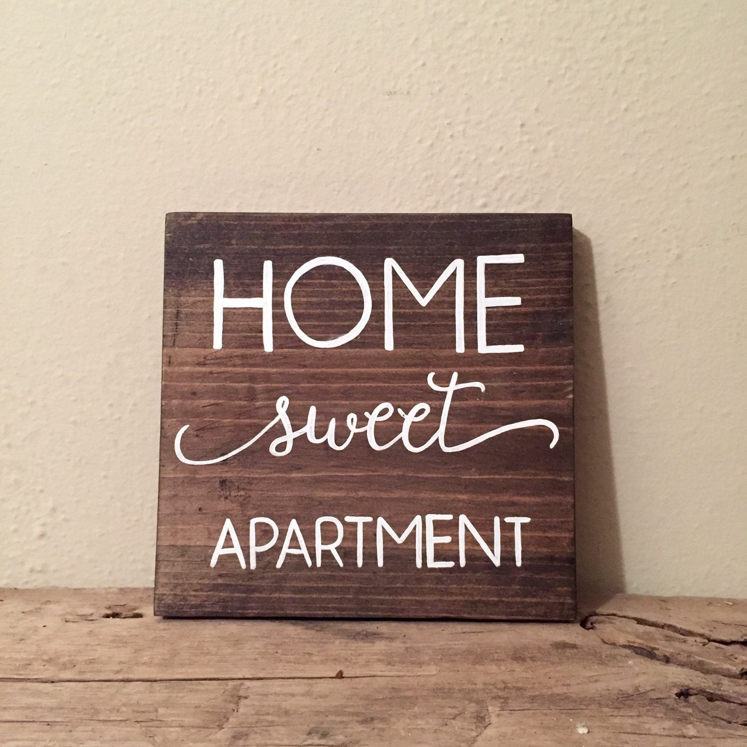 Wooden Signs Home Decor: Home Sweet Apartment Wood Sign Apartment Decor By WiscoFarms