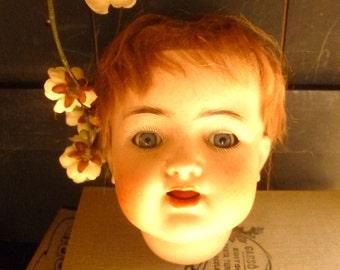 Simon Halbig parts doll model 126. Antique 1900 Bisque Porcelaine Doll