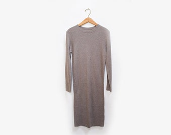 Ribbed Knit Sweater Dress M