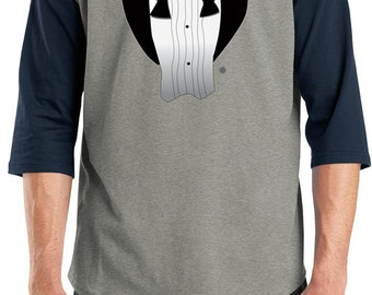 Men's Funny Shirt After Party Tuxedo Raglan Tee T-Shirt AFTERPARTY-T200