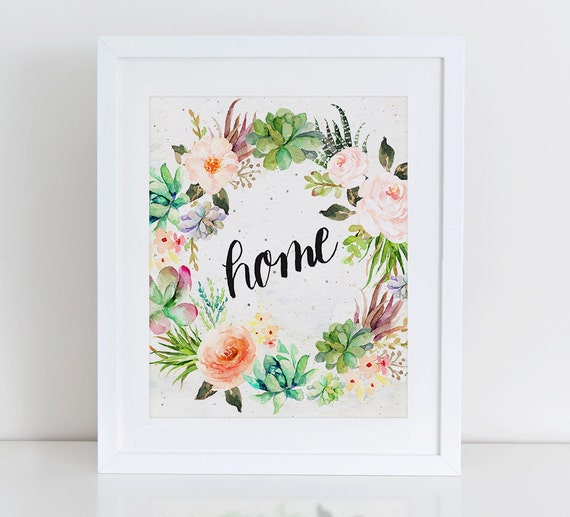 Wall Art Prints Download : Home art print floral wall instant download printable