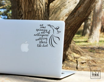 Sufi Whirling - Derwish Decal - Rumi Decal - Laptop Decal - Laptop Sticker - Car Decal - Car Sticker - Quote Decal