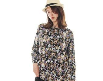 Retro Blouse, 1970 Blouse, Blouses, Elegant Blouse, Vintage Blouse, 70's Blouses, Elegant Blouse, Free Shipping, Size M-L