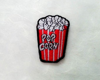 Popcorn Iron on Patch(M) - Popcorn Applique Embroidered Iron on Patch- Size 4.0x6.0 cm