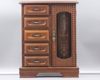 Vintage wooden jewelry box Etsy