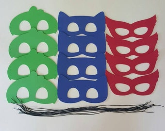 SALE!!!! PJ MASKS - 0.50 Each for 12 or more Un-Assembled Masks - Use for Favors or Crafts Pj Hero Masks, Super Hero Masks, Batman Masks