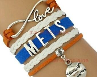 New York Mets infinity bracelet, ny mets bracelet