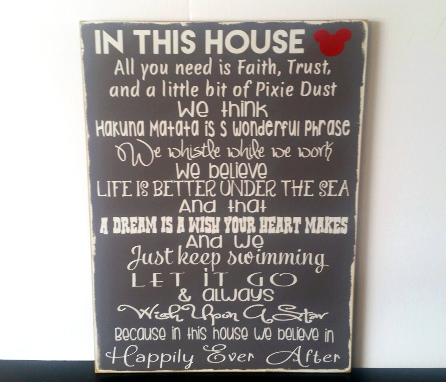 We Do Disney Signs Handmade In This House Disney Wood Sign