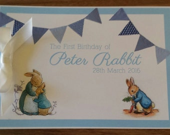 1st First Birthday  Custom Made Peter Rabbit  Guest Book
