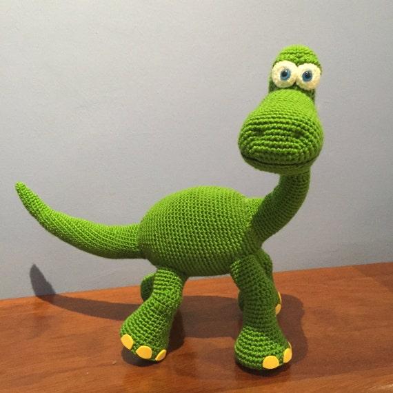 Amigurumi Dinosaurio Patron : Patron Dinosaurio Arlo Disney Pixar amigurumi crochet