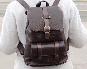 """Leather backpack """"Chocolate"""""""