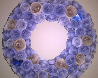 rolled rose wreath