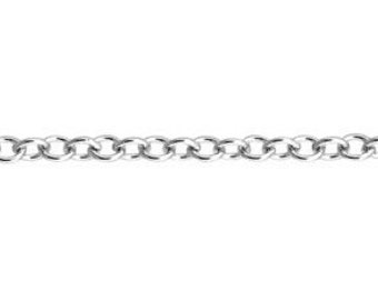 2.55 x 3mm Cable Chain By the Foot - Sterling Silver (SS) Item # 3022-11CA