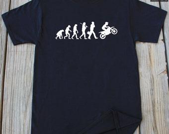 Dirt Bike Evolution T-Shirt Motorcycle T-Shirt Motorcycle Evolution T-Shirt Gift For Him Dirt Bike T-Shirt