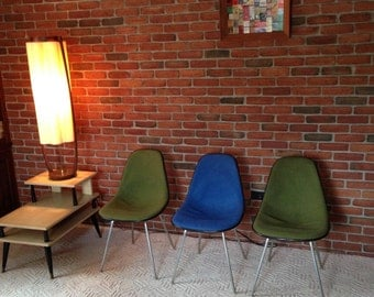 3 Herman Miller Fiberglass Shell Chairs, Vintage MCM Charles Eames Era, Mid Century Modern, Office, desk, DiNNiNG Chair, OUTSTANDING Cond