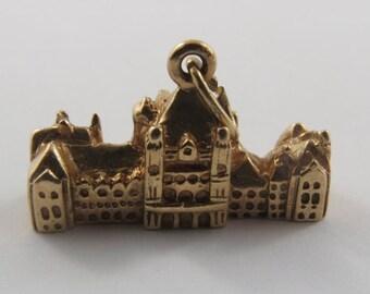Parliament Building Toronto 10K Gold Vintage Charm For Bracelet