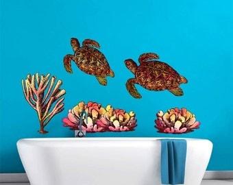 Underwater World Bathroom Décor Wall Decal