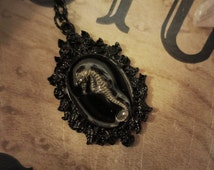 Seahorse Necklace, Oddities, Curiosities, Taxidermy Jewelry, Vulture Culture