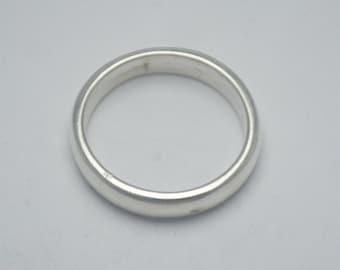 Circle men ring in sterling silver, man ring, silver man ring, circle ring for men, circle silver ring for man, simple circle ring