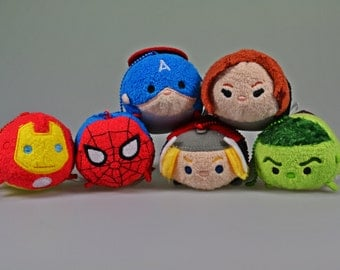 SALE! Avengers Plushie Iron Man Captain America Thor Black Widow Hulk Spiderman