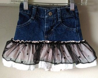 12 Months - Upcycled Girls Jean Skirt