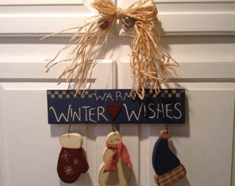 Warm Winter Wishes Sign