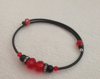 Double Red Crystal Beads bracelet
