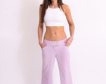 Vintage 1990's WIDELEG LILAC TROUSER light weight summer pant