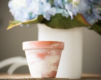 Clay Pot Terra Cotta Planter Vase Flowers Succulents Centerpiece Distressed