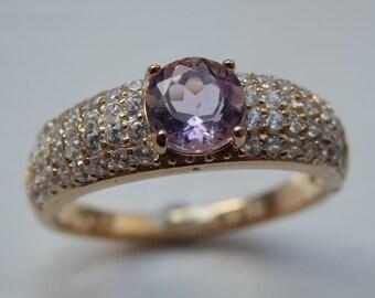 Rose de France Amethyst Dress Ring
