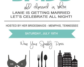 On The Town - Bachelorette Party Invitation