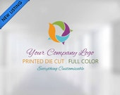 Full Color Custom Logo & Text - Car Decal - Window Decal - Laptop Decal - Wall Decal - Glossy / Matte - Die Cut Vinyl Sticker