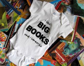 I Like Big Books and I Cannot Lie Onesie