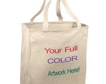 Tote Bag - Full Color Custom Designs