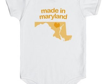 Made in Maryland Onesie (Blue, Orange & Pink)