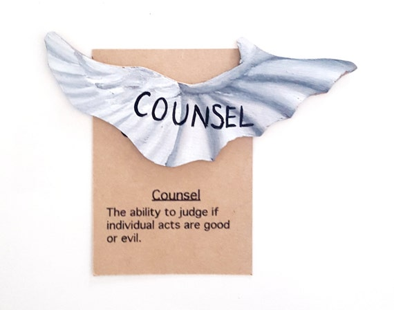 Items similar to Counsel, Seven gifts of the holy spirit ...