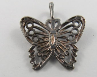 Butterfly Sterling Silver Charm or Pendant.