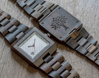 Wood Watch, black watch, Wooden watch, mens watch, handmade, groomsmen gift, watch, Valentine's day, birthday gift, mens gift, anniversary