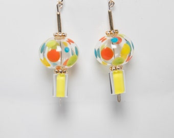 Polka dotted bubble earrings-A320