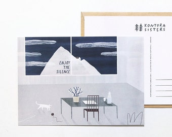 enjoy the silence. postcard