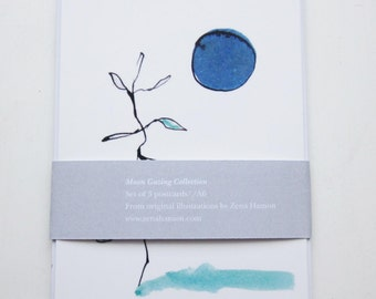 Moon Gazing // Pack of 3 Postcards