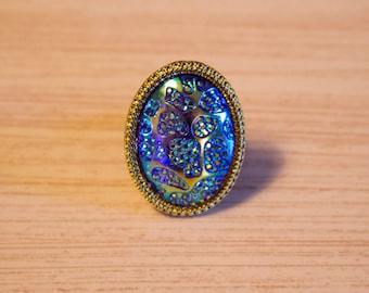 Iridescent Leopard Ring