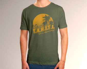 "Agents of SHIELD ""Visit TAHITI"" Men's T-Shirt"