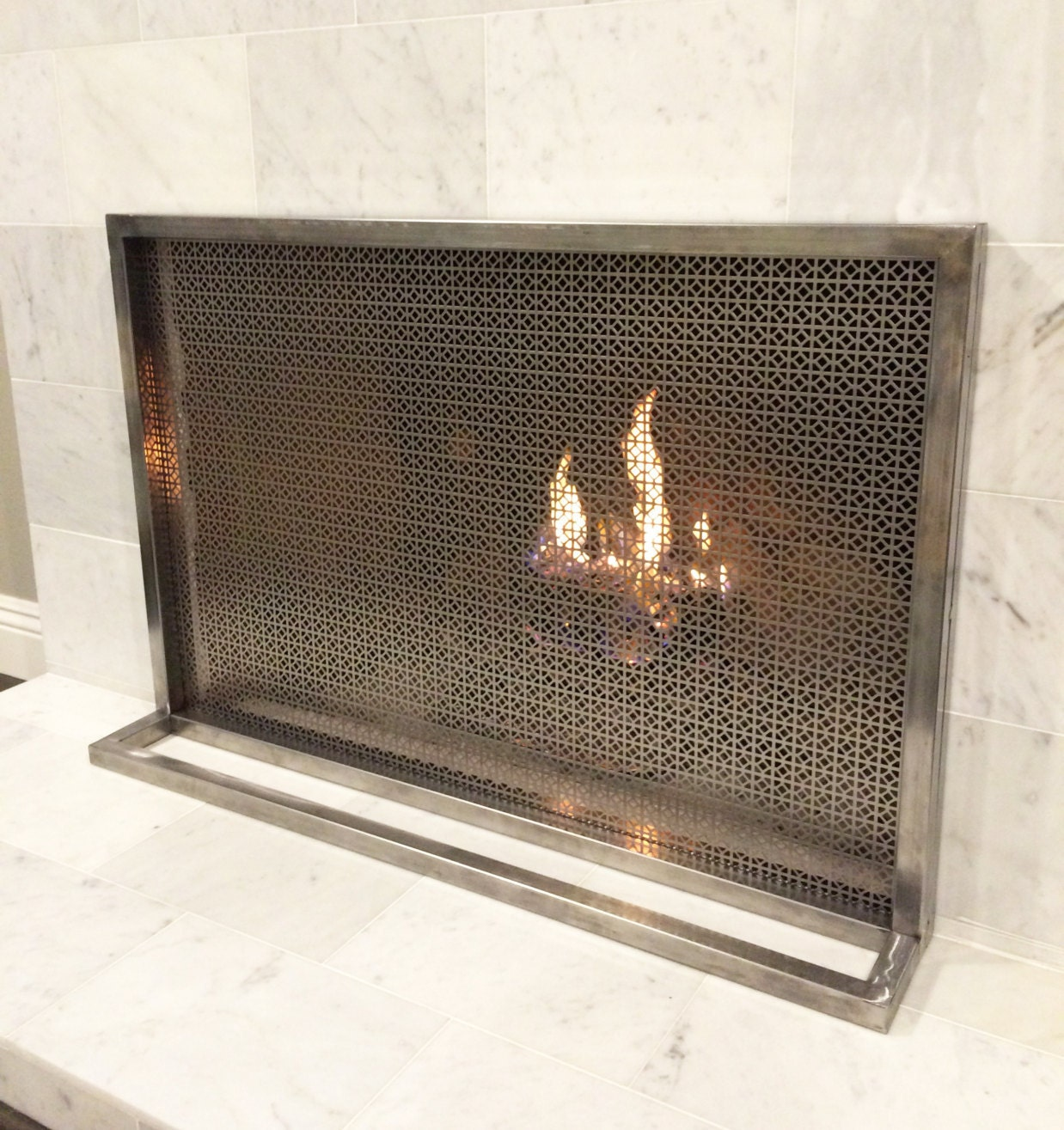 Ima fireplace screen cover simple modern by studioonezeroone - Find best contemporary fireplace screen ...