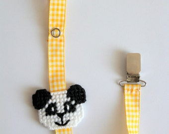 Baby pacifier clip,panda pacifier clip,universal pacifier holder,baby accessories,gift babies